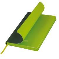 Ежедневник недатированный, Portobello Trend, Latte, 140х210, 256 стр, зеленый/лимонный