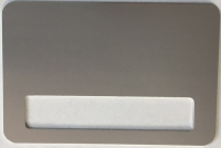 Бейдж сублимационный 76x51мм, с окном 60x12мм, металл, серебро, магнитное крепление