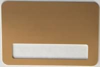 Бейдж сублимационный 76x51мм, с окном 60x12мм, металл, золото, магнитное крепление
