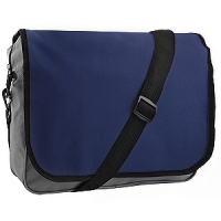 "Конференц-сумка ""College""; серый с темно-синим; 38х30х9,5 см; полиэстер"