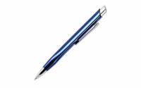 Шариковая ручка, Pyramid, нажимной мех-м, корпус-алюминий, синий глянец