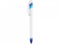 Ручка шариковая «Трио» белая/синяя/голубая