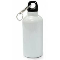 Бутылка спортивная (фляжка) сублимационная, 600 мл, металл, белая