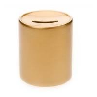 Копилка керамическая, H=90, D=80, цвет золото
