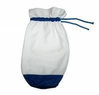 """Мешок """"НОВОГОДНИЙ"""" для подарков (90х90х330), белый с синим"""