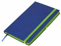 Ежедневник недатированный, Portobello Trend, Aurora, 145х210, 256 стр, синий/зеленый