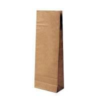 Пакет под чай/кофе (под 50-100гр.) 21,0х7,0х4,0 крафт в полоску+бумага (70гр/м+50гр)