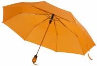 Зонт складной Wood, оранжевый