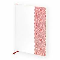 Ежедневник недатированный, Portobello Trend, Russia, 145х210, 256 стр, белый/красный